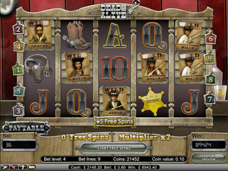 Dead or Alive Video Slot Game NetEnt