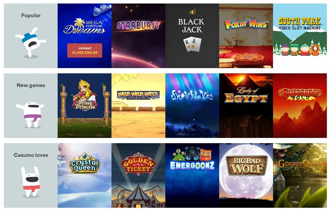 Casumo Casino Slot Games